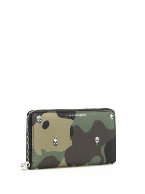 Alexander Mcqueen: wallets & purses online - Camu print leather wallet