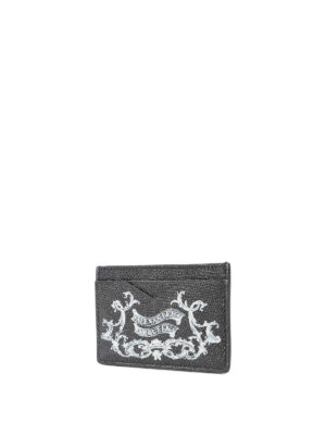 Alexander Mcqueen: wallets & purses online - Coat of Arms leather card holder