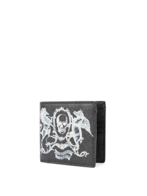 Alexander Mcqueen: wallets & purses online - Coat of Arms print leather wallet