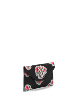 Alexander Mcqueen: wallets & purses online - Insigna leather card holder