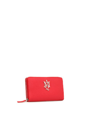 Alexander Mcqueen: wallets & purses online - Insignia leather continental wallet