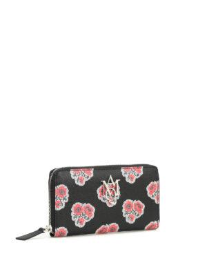 Alexander Mcqueen: wallets & purses online - Insignia poppy print leather wallet