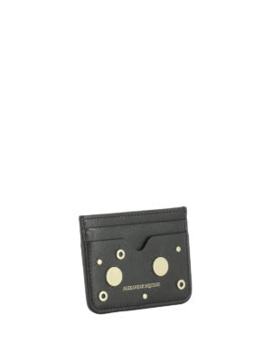 Alexander Mcqueen: wallets & purses online - Leather card holder with eyelets