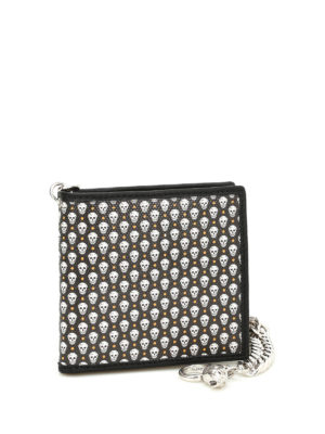 Alexander Mcqueen: wallets & purses online - Leather Skull print wallet