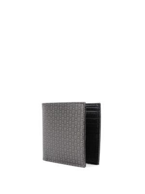 Alexander Mcqueen: wallets & purses online - Micro Skull pattern leather wallet