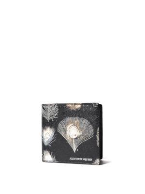 Alexander Mcqueen: wallets & purses online - Printed leather billfold wallet