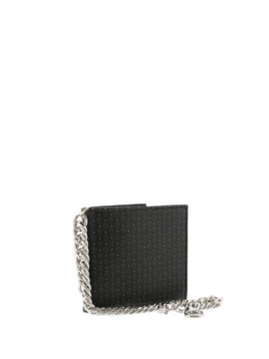 Alexander Mcqueen: wallets & purses online - Skull printed leather wallet