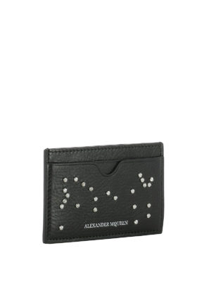 Alexander Mcqueen: wallets & purses online - Studded leather card holder