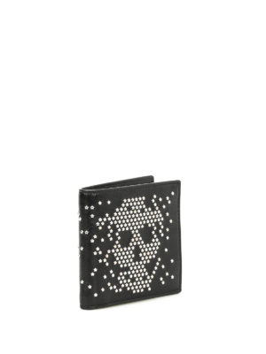 Alexander Mcqueen: wallets & purses online - Studded Skull bi-fold wallet