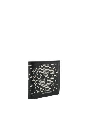 Alexander Mcqueen: wallets & purses online - Studded Skull bifold wallet