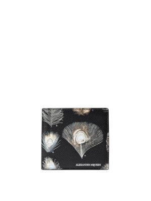 Alexander Mcqueen: wallets & purses - Printed leather billfold wallet