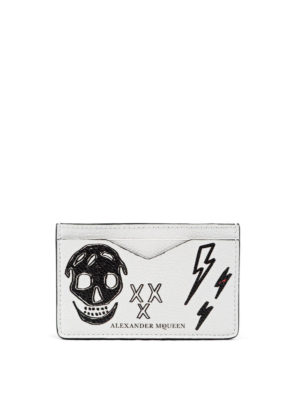 Alexander Mcqueen: wallets & purses - Printed leather card holder