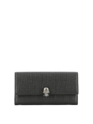 Alexander Mcqueen: wallets & purses - Skull Continental wallet