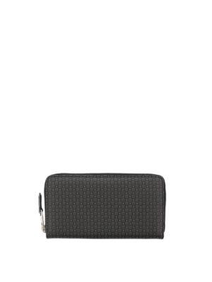 Alexander Mcqueen: wallets & purses - Skull print zip around wallet