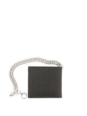 Alexander Mcqueen: wallets & purses - Skull printed leather wallet