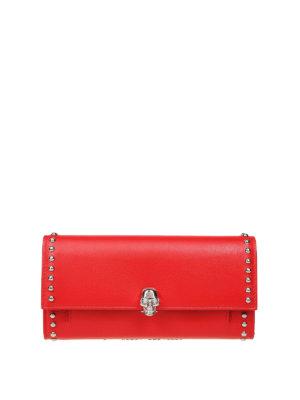 ALEXANDER MCQUEEN: portafogli - Portafoglio rosso con Skull e borchie