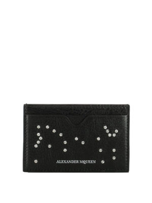Alexander Mcqueen: wallets & purses - Studded leather card holder