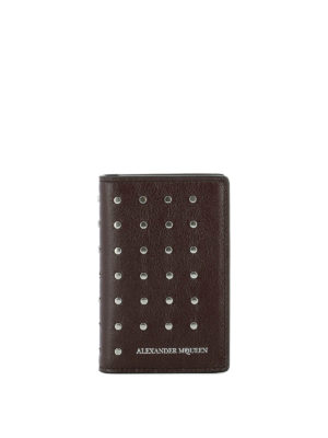 Alexander Mcqueen: wallets & purses - Studded leather wallet