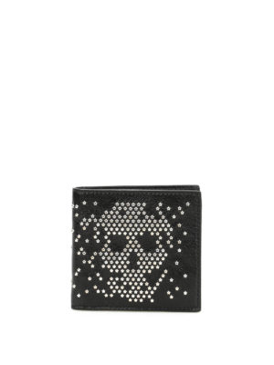 Alexander Mcqueen: wallets & purses - Studded Skull bi-fold wallet
