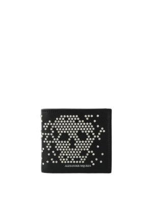 Alexander Mcqueen: wallets & purses - Studded Skull bifold wallet