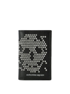 Alexander Mcqueen: wallets & purses - Studded Skull leather organizer