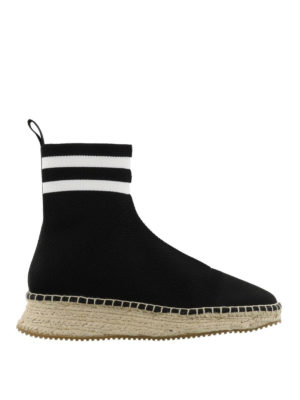 Alexander Wang: ankle boots - Dylan knit sock ankle boots