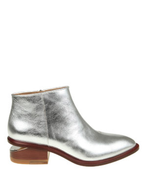 Alexander Wang: ankle boots - Kori laminated leather booties