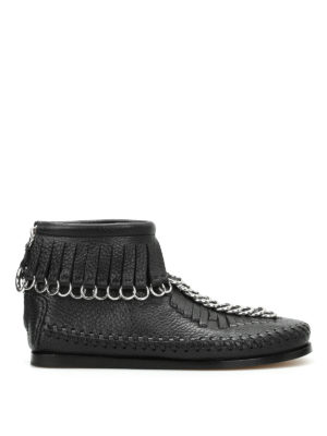 Alexander Wang: ankle boots - Montana fringed ankle boots