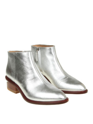 Alexander Wang: ankle boots online - Kori laminated leather booties