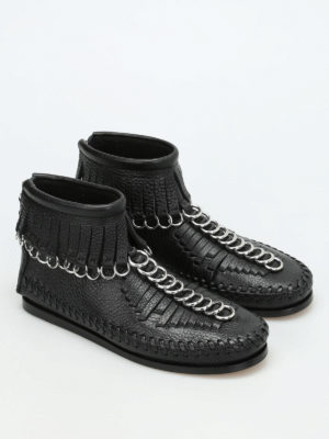 Alexander Wang: ankle boots online - Montana fringed ankle boots