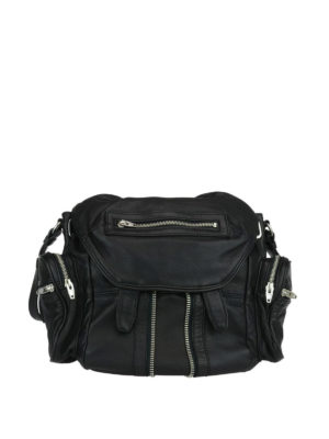Alexander Wang: backpacks - Marti Mini zipped leather backpack