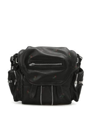 Alexander Wang: backpacks - Mini Marti soft leather backpack