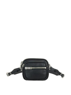 Alexander Wang: belt bags - Attica multi zip leather belt bag