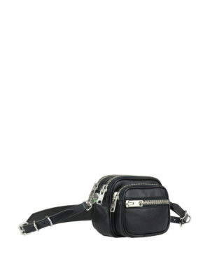 Alexander Wang: belt bags online - Attica multi zip leather belt bag