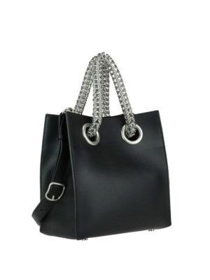Alexander Wang: bowling bags online - Genesis chain handles bowling bag