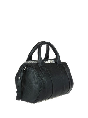 Alexander Wang: bowling bags online - Rockie big leather bag