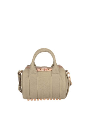 Alexander Wang: bowling bags - Rockie medium leather bag