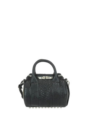 Alexander Wang: bowling bags - Rockie small leather  bag