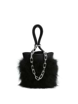 Alexander Wang: Bucket bags - Feather and chain detail bucket bag