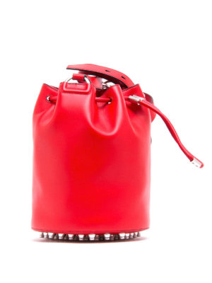 Alexander Wang: Bucket bags online - Alpha leather bucket bag