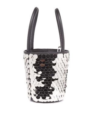 Alexander Wang: Bucket bags online - Roxi metallic disc mini bucket bag
