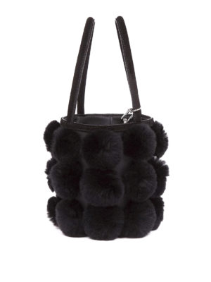 Alexander Wang: Bucket bags online - Roxy fur mini bucket bag