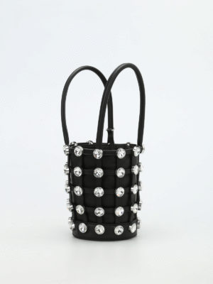 Alexander Wang: Bucket bags online - Roxy Mini glass stones bucket bag