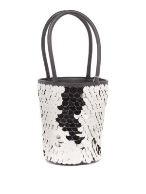 Alexander Wang: Bucket bags - Roxi metallic disc mini bucket bag