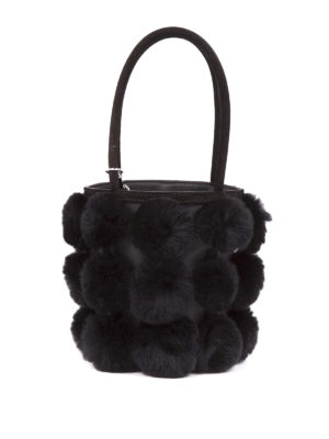 Alexander Wang: Bucket bags - Roxy fur mini bucket bag