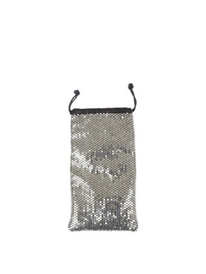 Alexander Wang: clutches - Ryan metal mesh and leather clutch