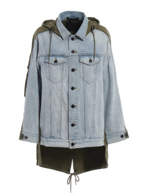 ALEXANDER WANG: giacche denim - Giacca Daze Mix in denim e cotone