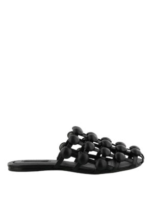 Alexander Wang: Loafers & Slippers - Amelia leather cage slippers
