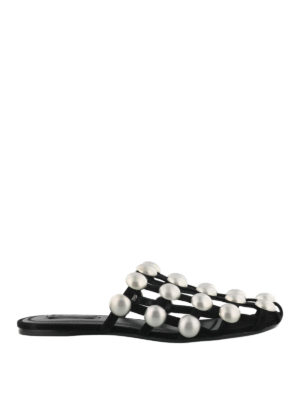 Alexander Wang: Loafers & Slippers - Amelia studded cage slippers