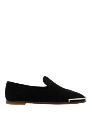 Alexander Wang: Loafers & Slippers - Kelsie metal toe guard slippers